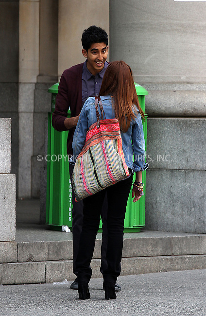 WWW.ACEPIXS.COM......April 28 2013, New York City....Actor Dev Patel was on the set of the TV show 'The Newsroom' on April 28 2013 in New York City......By Line: Zelig Shaul/ACE Pictures......ACE Pictures, Inc...tel: 646 769 0430..Email: info@acepixs.com..www.acepixs.com