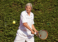 Netherlands, Amstelveen, August 22, 2015, Tennis,  National Veteran Championships, NVK, TV de Kegel,  Men's 65+, Hans Adama Van Scheltema<br /> Photo: Tennisimages/Henk Koster