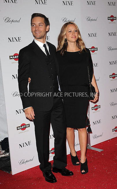 WWW.ACEPIXS.COM . . . . . ....December 15 2009,  New York City....Tobey Maguire and Jennifer Meyer arriving at the New York premiere of 'Nine' at the Ziegfeld Theatre on December 15 2009 in New York City....Please byline: KRISTIN CALLAHAN - ACEPIXS.COM.. . . . . . ..Ace Pictures, Inc:  ..(212) 243-8787 or (646) 679 0430..e-mail: picturedesk@acepixs.com..web: http://www.acepixs.com