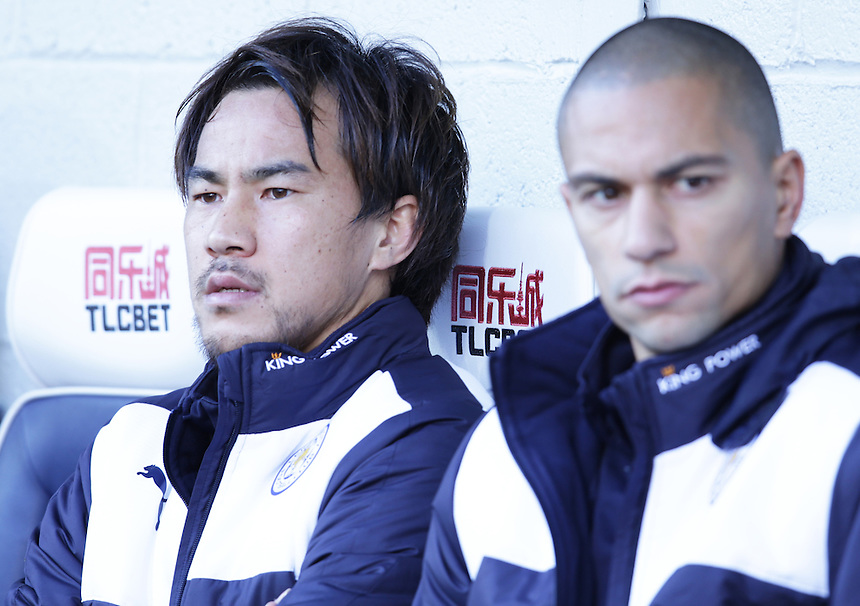 Leicester City's Shinji Okazaki sits on the bench for the first half<br /> <br /> Photographer Rachel Holborn/CameraSport<br /> <br /> Football - Barclays Premiership - West Bromwich Albion v Leicester City - Saturday 31st October 2015 - The Hawthorns - West Bromwich<br /> <br /> &copy; CameraSport - 43 Linden Ave. Countesthorpe. Leicester. England. LE8 5PG - Tel: +44 (0) 116 277 4147 - admin@camerasport.com - www.camerasport.com
