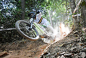 8th September 2017, Smithfield Forest, Cairns, Australia; UCI Mountain Bike World Championships; Josh Button (AUS) during the downhill official timed session;