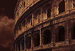 Night time rendition of the Roman Colosseum.