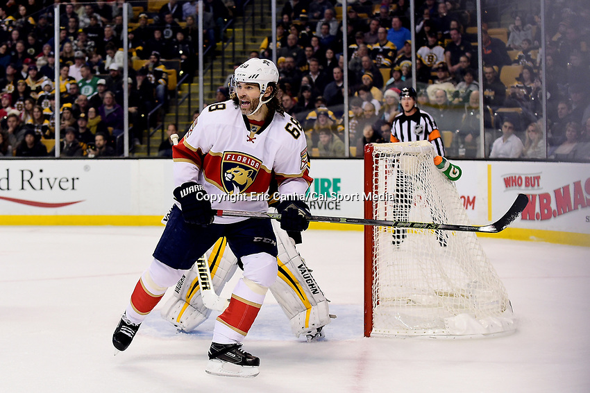 Monday, December 5, 2016: Florida Panthers right wing Jaromir Jagr (68) in game action during the National Hockey League game between the Florida Panthers and the Boston Bruins held at TD Garden, in Boston, Mass. Boston defeats Florida 4-3 in overtime. Eric Canha/CSM