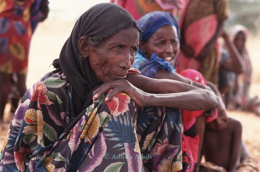 Somali women feeding station, Wajir, Somaliland, Kenya