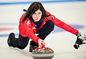 The womens Team GB Winter Olympic Curling Team 2014:  Skipper Eve Muirhead.
