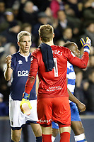 Steve Morison of Millwall and Alex Smithies of Queens Park Rangers during the Sky Bet Championship match between Millwall and Queens Park Rangers at The Den, London, England on 29 December 2017. Photo by Carlton Myrie / PRiME Media Images.