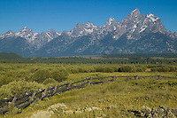 Teton Range and the Cathedral group from Cunningham Cabin, Grand Teton National Park