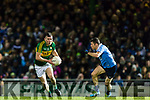 Kevin McCarthy Kerry in action against Darren Daly Dublin in the National League in Austin Stack park on Saturday night.