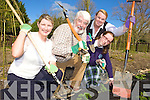 COMMUNITY GARDEN: Members of the Community Garden Committee at work in Tralee Town Park, l-r: Geraldine O'Sullivan (Kerry Volunteer Centre), Cllr Johnnie Wall (Chairman), Gretta O'Rourke and Sally O'Rourke.
