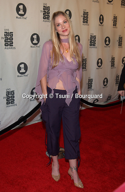 Christina Applegate arrives at the VH1 2002 Big Awards held at the Grand Olympic, on December 4, 2002.