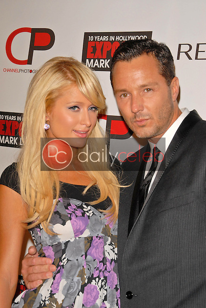"""Paris Hilton and Mark Liddell<br /> at the debut of Mark Liddell's """"Exposed: 10 Years In Hollywood,""""  Lloyd Wright's Sowden House, Los Angeles, CA. 11-09-09<br /> David Edwards/Dailyceleb.com 818-249-4998"""