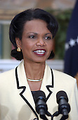 Dr. Condoleezza Rice makes remarks after United States President George W. Bush named her as United States Secretary of State succeeding Colin Powell in the Roosevelt Room of the White House in Washington, D.C. on November 16, 2004.<br /> Credit: Ron Sachs / Pool via CNP