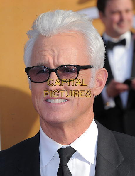 John Slattery.Arrivals at the 19th Annual Screen Actors Guild Awards at the Shrine Auditorium in Los Angeles, California, USA..27th January 2013.SAG SAGs headshot portrait black tinted glasses tie white shirt sunglasses shades .CAP/DVS.©DVS/Capital Pictures.