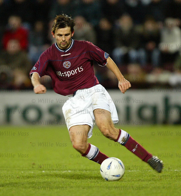 Paul Hartley, Hearts.pic willie vass