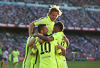 FC Barcelona´s players celebrating goal of Messi