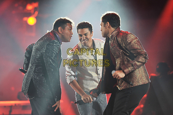 3T .Michael Forever Tribute Concert at The Millenium Stadium, Cardiff, Wales, UK 8th October 2011.performing live in on stage .CAP/MAR.© Martin Harris/Capital Pictures.