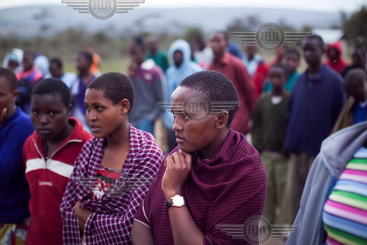 Survivors of FGM (female genital mutilation) Ngalai Lutori, 15 (left) and Naito Nagoto, 19, at the Noonkondin Secondary School run by Gemma Enolengila and Lesikar Olengila.