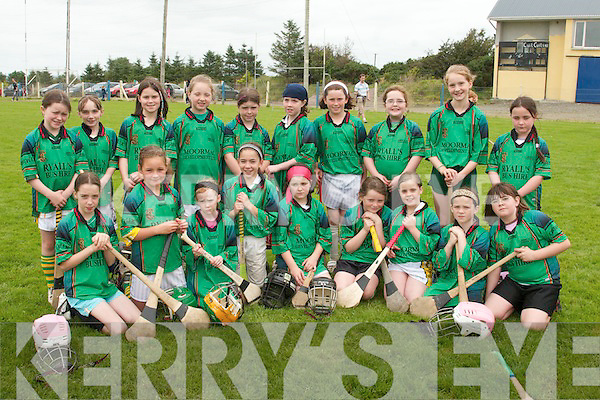 Abbeylix under 10 Camogie team at the fun day at St. Senan's GAA Club in Mountcoal, Listowel, on Saturday. Front from left, Sophie Cotter, Olivia Stack, Rose Molyneaux, Julie Ann O'Keeffe, Sarah Sheehan, Louise Horgan, Allahna Kissane, Cloie Sheehan and Louise Casey. Back from left, Michelle McCarthy, Nicola Murphy, Siobhan Pierse, Olivia Carmody, Aideen Spillane, Aoife Moloney, Aoife Behan, Freay Casey, Muireann McKenna, Lauren O'Connor.