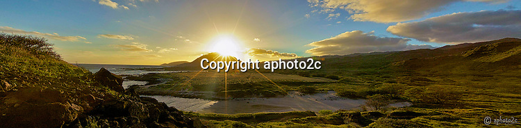 Stitched Panorama sunset Allen Davis
