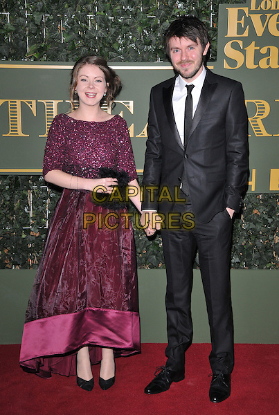 Amy McDowall &amp; Alistair McDowall attend the London Evening Standard Theatre Awards 2015, The Old Vic, The Cut, London, England, UK, on Sunday 22 November 2015.<br /> CAP/CAN<br /> &copy;CAN/Capital Pictures