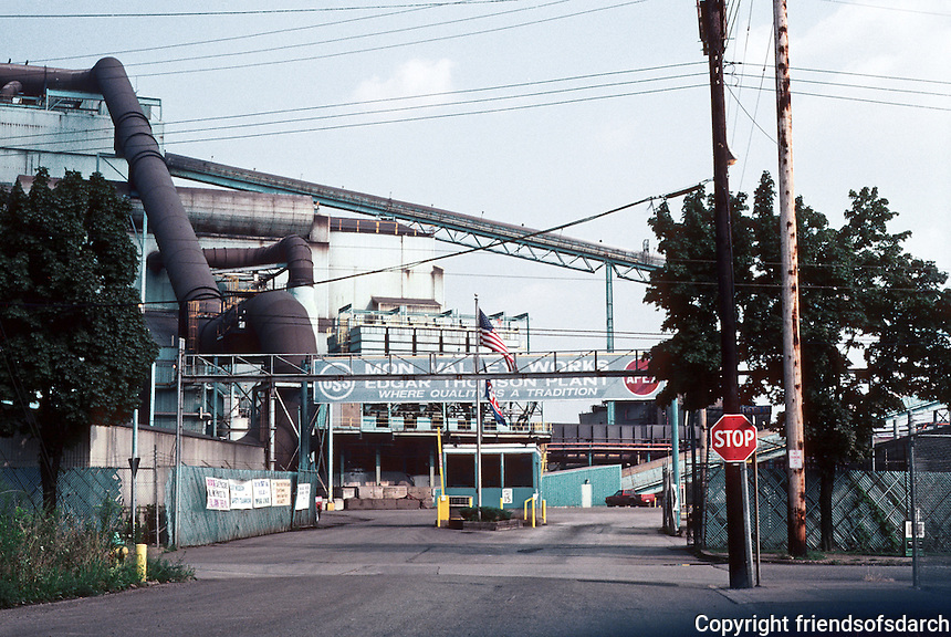 Pittsburgh: Braddock, The Edgar Thompson Works. Begun by Carnegie in 1870's when he decided to concentrate on steel. Photo 2001.