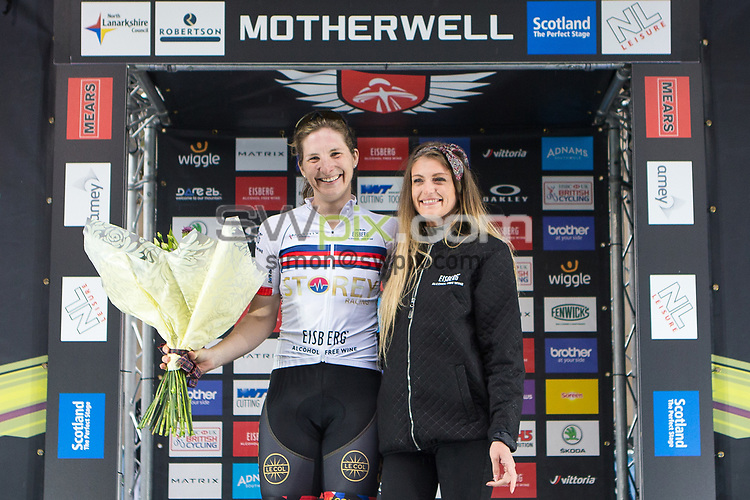 Picture by Alex Whitehead/SWpix.com - 23/05/2017 - Cycling - Tour Series Round 7, Motherwell -  Matrix Fitness Grand Prix - Storey Racing's Elizabeth-Jane Harris, Sprint leader.