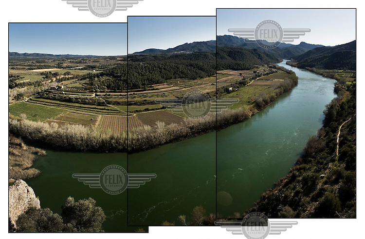 The Ebro River seen from the Miravet Castle.
