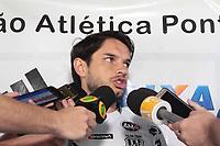 CAMPINAS, SP 30.04.2018-PONTE PRETA/FUTEBOL-Treino da Ponte Preta - O jogador Tiago Real, durante treino da Ponte Preta no CT do Jd Eulina, na cidade de Campinas (SP), nesta segunda-feira (30) A equipe se prepara para jogar contra o Flamengo. (Foto: Denny Cesare/Código19)