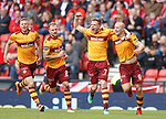 Curtis Main and Chris Cadden after Motherwell's opener