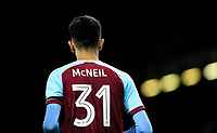 Burnley's Dwight McNeil<br /> <br /> Photographer Alex Dodd/CameraSport<br /> <br /> UEFA Europa League - UEFA Europa League Qualifying Second Leg 2 - Burnley v Olympiakos - Thursday August 30th 2018 - Turf Moor - Burnley<br />  <br /> World Copyright © 2018 CameraSport. All rights reserved. 43 Linden Ave. Countesthorpe. Leicester. England. LE8 5PG - Tel: +44 (0) 116 277 4147 - admin@camerasport.com - www.camerasport.com