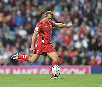 Wales's Gareth Davies converts his sides first try <br /> <br /> Kenya Vs Wales - men's placing 5-8 match<br /> <br /> Photographer Chris Vaughan/CameraSport<br /> <br /> 20th Commonwealth Games - Day 4 - Sunday 27th July 2014 - Rugby Sevens - Ibrox Stadium - Glasgow - UK<br /> <br /> © CameraSport - 43 Linden Ave. Countesthorpe. Leicester. England. LE8 5PG - Tel: +44 (0) 116 277 4147 - admin@camerasport.com - www.camerasport.com