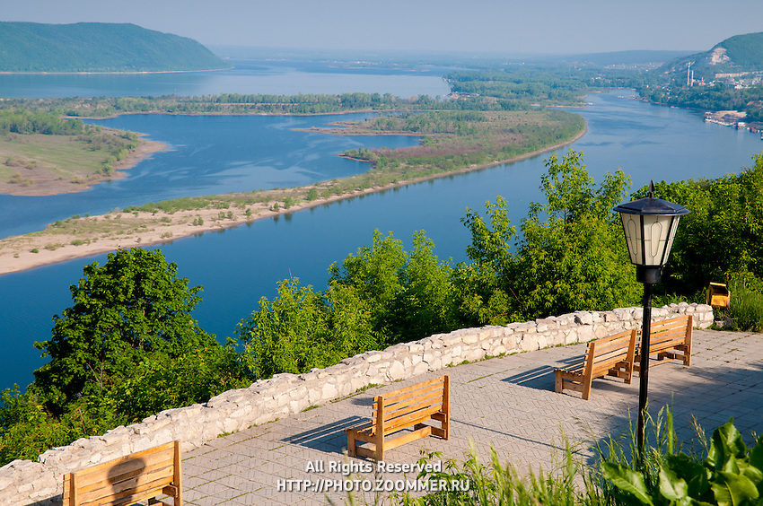 Observation Deck On The Volga River Travel Stock Photos - The volga river