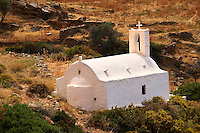 Traditional Greek Orthodox church on Ios, Cyclades Island, Greece