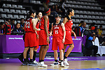 Shiori Yasuma (JPN), <br /> AUGUST 15, 2018 - Basketball : Women's Qualification round match between Hong Kong 44-121 Japan at Gelora Bung Karno Basket Hall A during the 2018 Jakarta Palembang Asian Games in Jakarta, Indonesia.<br /> (Photo by MATSUO.K/AFLO SPORT)