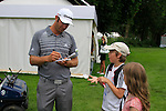 Dustin Johnson (USA) signs autographs during the Pro-Am Day of the BMW International Open at Golf Club Munchen Eichenried, Germany, 22nd June 2011 (Photo Eoin Clarke/www.golffile.ie)