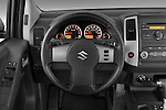 Steering wheel view of a 2009 suzuki equator rmz4 crew cab