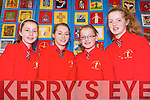 Pupil in Kerry Schools came together to create a special patchwork quilt to mark the Eucharistic Congress. .L-R Jane McGuillicuddy, Lauren O'Brien, Kiah Doona and Meabh Crowley.