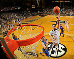 NASHVILLE, TENNESSEE - JANUARY 26:  (Editors Note: photo taken from a remote controlled backboard camera) Luke Kornet #3 of the Vanderbilt Commodores takes a shot against the Florida Gators at Memorial Gym on January 26, 2016 in Nashville, Tennessee.  (Photo by Frederick Breedon/Getty Images)