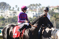 Potesta winner of the Torrey Pines Stakes at Del Mar Race Course in Del Mar, California on September 2, 2012.