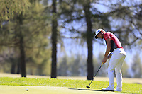 Haydn Porteous (RSA) putts on the 5th green during Saturday's Round 3 of the 2018 Omega European Masters, held at the Golf Club Crans-Sur-Sierre, Crans Montana, Switzerland. 8th September 2018.<br /> Picture: Eoin Clarke | Golffile<br /> <br /> <br /> All photos usage must carry mandatory copyright credit (&copy; Golffile | Eoin Clarke)