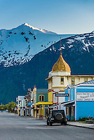 Broadway (the historic center of the town is called Klondike Gold Rush National Historical Park), Skagway, Inside Passage, southeast Alaska USA.