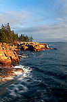 Shoreline near Ship Harbor,  Acadia National Park, Maine, USA
