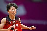 Shiori Yasuma (JPN), <br /> AUGUST 15, 2018 - Basketball : Women's Qualification round match between Hong Kong -Japan at Gelora Bung Karno Basket Hall A during the 2018 Jakarta Palembang Asian Games in Jakarta, Indonesia. <br /> (Photo by MATSUO.K/AFLO SPORT)