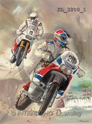 Interlitho, Luis, MASCULIN, paintings, motocross(KL3208/1,#M#) Männer, masculino, illustrations, pinturas , hombres ,everyday