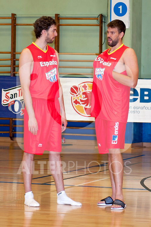 Pau Gasol and Marc Gasol players of The Spanish Basketball Team