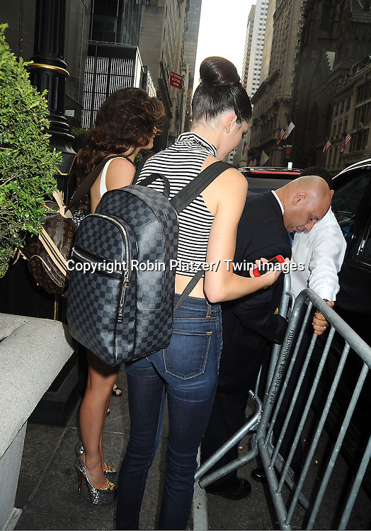 lKendall Jenner leaves the Sherri Hill Spring 2012 Fashion Show on September 7, 2012 at Trump Tower in New York City.