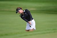 Georgia Hall (ENG) chips up on to 1 during the round 3 of the KPMG Women's PGA Championship, Hazeltine National, Chaska, Minnesota, USA. 6/22/2019.<br /> Picture: Golffile | Ken Murray<br /> <br /> <br /> All photo usage must carry mandatory copyright credit (© Golffile | Ken Murray)