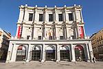 Teatro Real opera house theatre building in Plaza de Oriente, Madrid, Spain