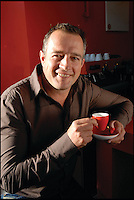 BNPS.co.uk (01202 558833)<br /> Pic: RedEspresso/BNPS<br /> <br /> ***Please Use Full Byline***<br /> <br /> Inventor and co-founder, Carl Pretorius. <br /> <br /> This tiny shot of dark liquid is set to send shudders through the lucrative drinks trade - because it's the world's first espresso made from tea.<br /> <br /> Although it looks like a regular shot of coffee the revolutionary brew is actually made from finely ground Rooibos, a plant that only grows in a tiny corner of South Africa.<br /> <br /> It is made by forcing water through Rooibos grounds at high pressure creating a drink that looks like an espresso but without the side effects of coffee.<br /> <br /> The wonder drink, called Red Espresso in a nod to the distinctive colour the Rooibos gives it, is caffeine-free and is said to have five times the antioxidants of green tea.