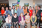 FAREWELL: Grainne Dowling, Abbeydorney (seated centre) enjoying a farewell dinner with colleagues and friends in Duffin's bar/restaurant, Ballymullen, Tralee on Thursday night as she leaving for London after nearly 8 years behind the reception of the Bon Secours Hospital, Tralee. Front l-r: Antonia O'Sullivan, Bridie Byrne, Grainne Dowling, Cathy Stack and Nora Casey. Back l-r: Geraldine O'Mahony, Katie O'Neill, Liz and Michelle Griffin, Ger Redican, Annie Moriarty, Roisin Flynn, Lil Hanafin, Fiona Walsh, Molly Shrek with Caroline Tagney.